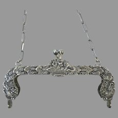 Antique 800 Silver Purse Frame Kremos Roma Silver