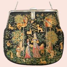 Exceptional Vintage Tiffany Petit Point Purse Sterling Silver Frame Fabulous Bag / Handbag