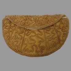 Vintage Beaded Purse Clutch Handbag