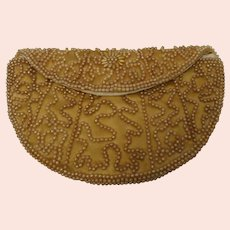 Vintage Beaded Purse Clutch Handbag