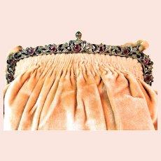 Vintage Purse with Jewel Encrusted Frame Bag Handbag