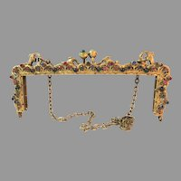 Antique Vintage Jewel Purse Frame Mount for Bag Handbag