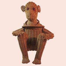 Vintage Wicker Monkey Purse