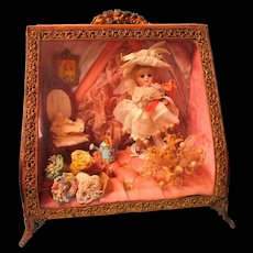 Wonderful1880's Ormalu Wedding Casket Has Mignonette