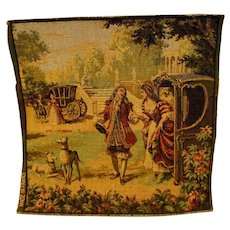 French Victorian Tapestry For Your Doll Scenes