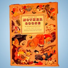 1945 - LARGE INDIVIDUAL PAGES - Mother Goose Book-Simon and Schuster - Very - For Backgrounds