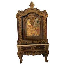 Antique Biedermeier Cabinet/Dresser With Mirror