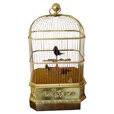 SALE!!!    Antique Music Box -  Singing  Birds Cage