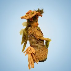 Swivel Head, Peg Jointed, Many Buttons on Tall Boots, Mignonette Doll