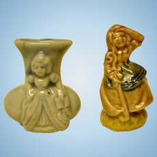 Small Statue and Vase- Bisque - For Dollhouse or Diorama