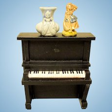 Upright Heavy Antique Piano For Doll House