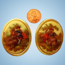 Elegant Victorian Framed Pictures For Your Doll House Or Scenes