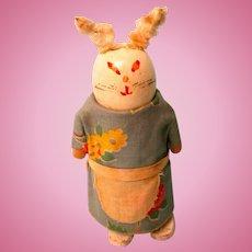 RARE! Early Wilson Walker Doll - Wooden Bunny