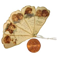 MINIATURE:  Tiny Fan For Your Doll To Hold