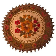Vintage Rug For Doll Scenes Or Dollhouse