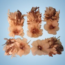 1920's Pretty Flowers From Vintage Hat