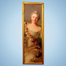 SALE!!!   Tall FRENCH Picture For Dollhouse (Lady Lived From 1685-1756)