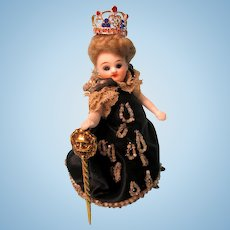 """The """"Queen""""  Mignonette - All Bisque - Fully Jointed - All Original Clothing"""
