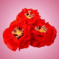 Vintage Flowers -Large Poppies