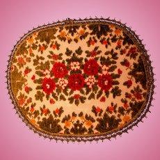 Vintage Velvet Woven Dollhouse Rug-Excellent!
