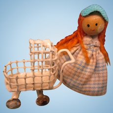 SALE!   Tiny Doll & Metal Buggy