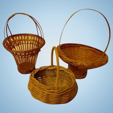 Wicker Baskets For Your Dolls - Smaller