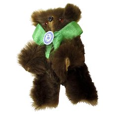 Tiny Bear With Real Fur - Excellent Condition!!