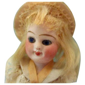 Tiny French All Original Mignonette & Her Snow Man