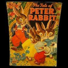 Peter Rabbit - Children's Book - 1943 - Excellent! Merrill Publishing