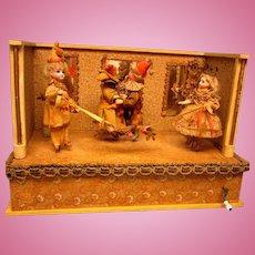 Excellent!   Musical Dancing Dolls - German - Ca. 1890