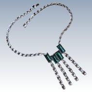 Art Deco Sterling Paste Necklace