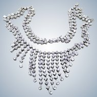 Cubic Zirconia Sterling Waterfall Necklace
