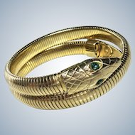 Art Deco Snake Bracelet Flexible