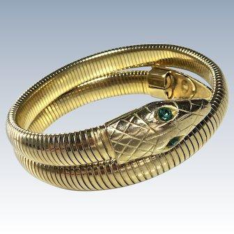 Art Deco Snake Bracelet Flexible