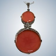 Art Deco Carnelian Wachenheimer Sterling Necklace