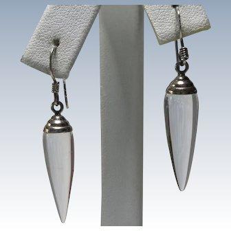 Vintage Rock Crystal Sterling Earrings
