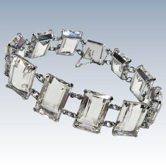 Deco Japan Rock Crystal Sterling Bracelet