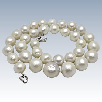 Large 15mm Kasumi Like Cultured Freshwater Pearl Necklace