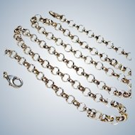 """Sterling Rolo Link 18"""" 4mm Neck Chain"""