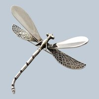 Dragon Fly Large Sterling Brooch/Pin