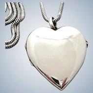 X-Large Tiffany & Co. Heart Locket Sterling