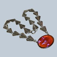 Art Deco Dragons Breath Sterling Necklace