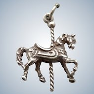 Vintage Sterling Carousel Horse Charm