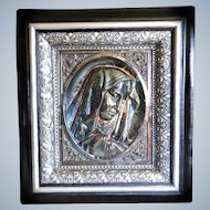 Victorian Silver on Copper Madonna High Relief Scottish