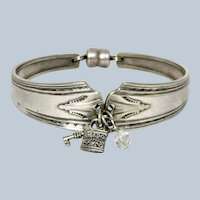 Art Deco Silver Plate Spoon Bracelet Charms