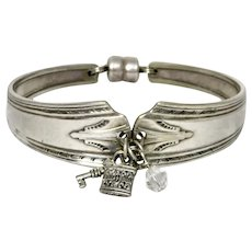 Art Deco Silver Plate Spoon Bracelet Charms
