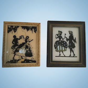 Framed Silhouette Lords & Ladies Reliance Picture Co.