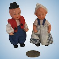 Tiny 3 Inch European Boy and Girl Plastic