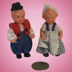 Tiny 3 Inch European Boy and Girl Plastic
