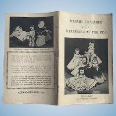 Alexander-kins Booklet 1955 Madame Alexander